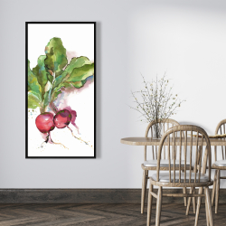 Framed 24 x 48 - Watercolor radish