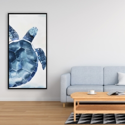 Framed 24 x 48 - Blue turtle