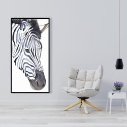 Framed 24 x 48 - Zebra