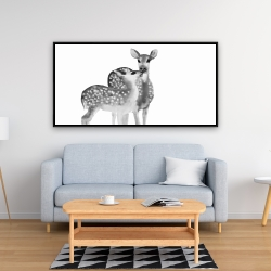 Framed 24 x 48 - Fawns love