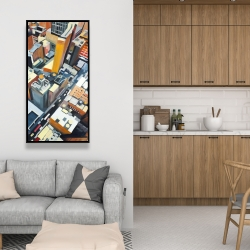 Framed 24 x 48 - High top view of buildings in new york