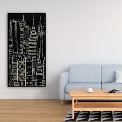 Framed 24 x 48 - Illustrative dark city