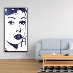 Framed 24 x 48 - Audrey hepburn: cigarillo