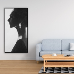 Framed 24 x 48 - Chic woman