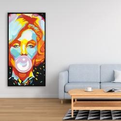 Framed 24 x 48 - Colorful marilyne monroe bubblegum