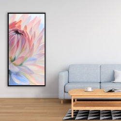 Framed 24 x 48 - Lotus pastel flower