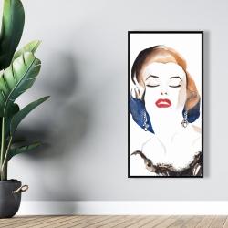 Framed 24 x 48 - Vintage chic maryline monroe