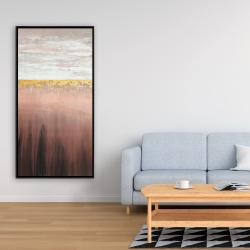 Framed 24 x 48 - Golden pink