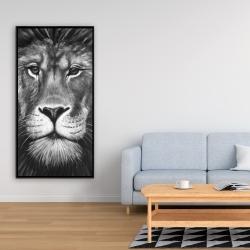 Framed 24 x 48 - Lion portrait