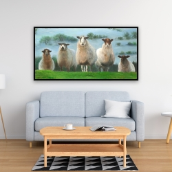 Framed 24 x 48 - Flock of sheep