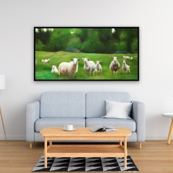 Framed 24 x 48 - Fields of sheep