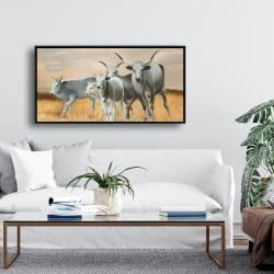 Framed 24 x 48 - Nguni breeding