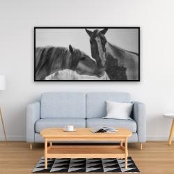 Framed 24 x 48 - Horses lover
