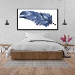 Framed 24 x 48 - Blue feather