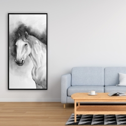 Framed 24 x 48 - Domino horse