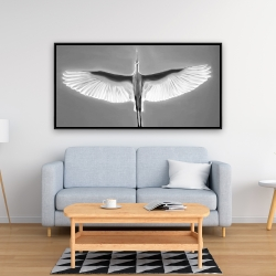 Framed 24 x 48 - Great blue heron in flight
