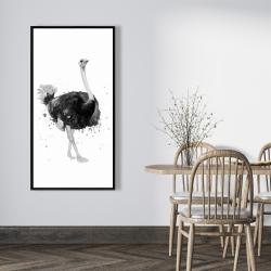 Framed 24 x 48 - Proud ostrich