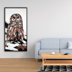 Framed 24 x 48 - Tawny owl