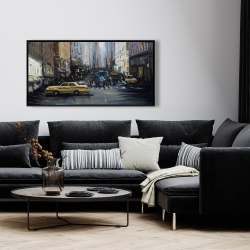 Framed 24 x 48 - In the city