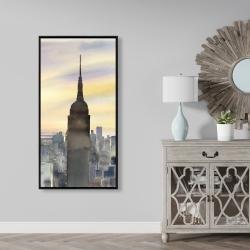 Framed 24 x 48 - Sunset over new york city