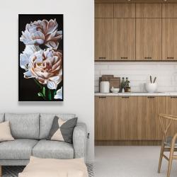 Framed 24 x 48 - Peonies