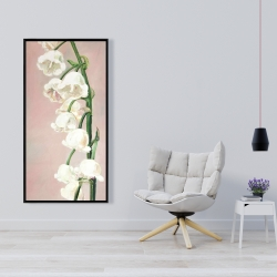 Framed 24 x 48 - Lily of the valley flowers