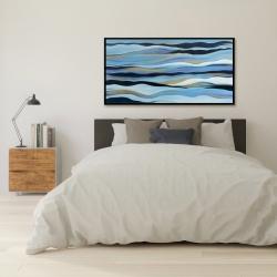 Framed 24 x 48 - Blue sweep