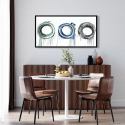 Framed 24 x 48 - Trio of circles