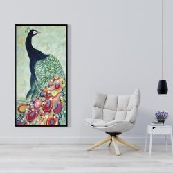 Framed 24 x 48 - Proud as a peacock