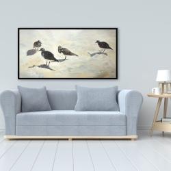 Framed 24 x 48 - Sandpiper birds