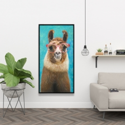 Framed 24 x 48 - Lovable llama