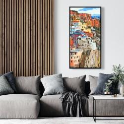 Framed 24 x 48 - View of manarola in italy