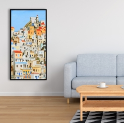 Framed 24 x 48 - Small houses in greece