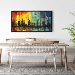 Framed 24 x 48 - City with color tones
