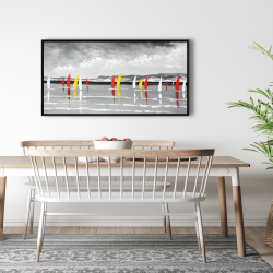 Framed 24 x 48 - Sailing on the lake