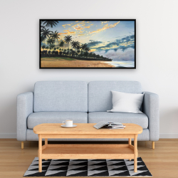 Framed 24 x 48 - Tropical summer moments