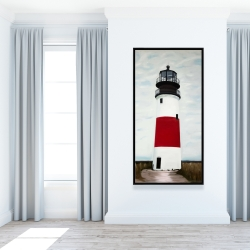 Framed 24 x 48 - Sankaty head lighthouse