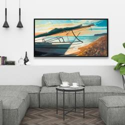 Framed 24 x 48 - Peaceful seaside