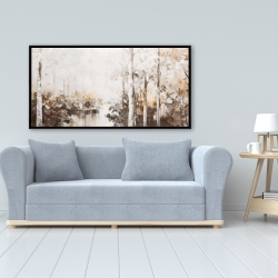 Framed 24 x 48 - Abstract white forest