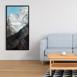Framed 24 x 48 - Emblematic himalayan peaks