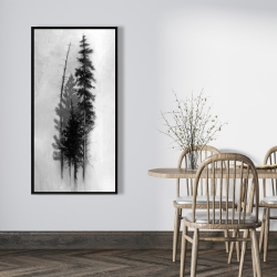 Framed 24 x 48 - Silhouette of trees