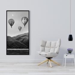Framed 24 x 48 - Air balloon landscape