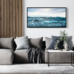 Framed 24 x 48 - Glaciers in iceland