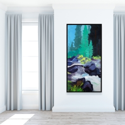 Framed 24 x 48 - Beautiful waterfall