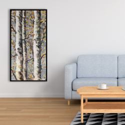 Framed 24 x 48 - Blossoming birches