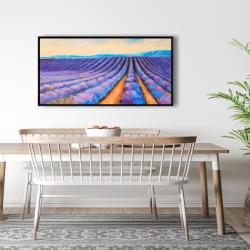 Framed 24 x 48 - Lavender fields