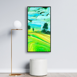 Framed 24 x 48 - Rice fields of vietnam