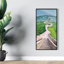 Framed 24 x 48 - Great wall of mutianyu