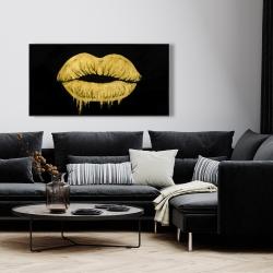 Framed 24 x 48 - Golden lips