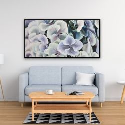 Framed 24 x 48 - Colorful hydrangea flowers